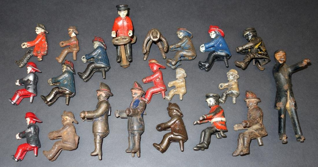 CAST IRON FIGURES (21+/-)