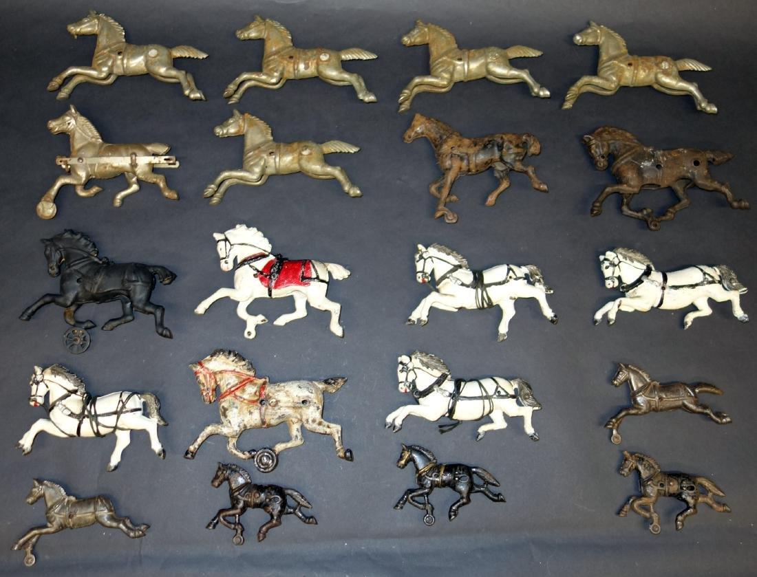 CAST IRON HORSES (20+/-)