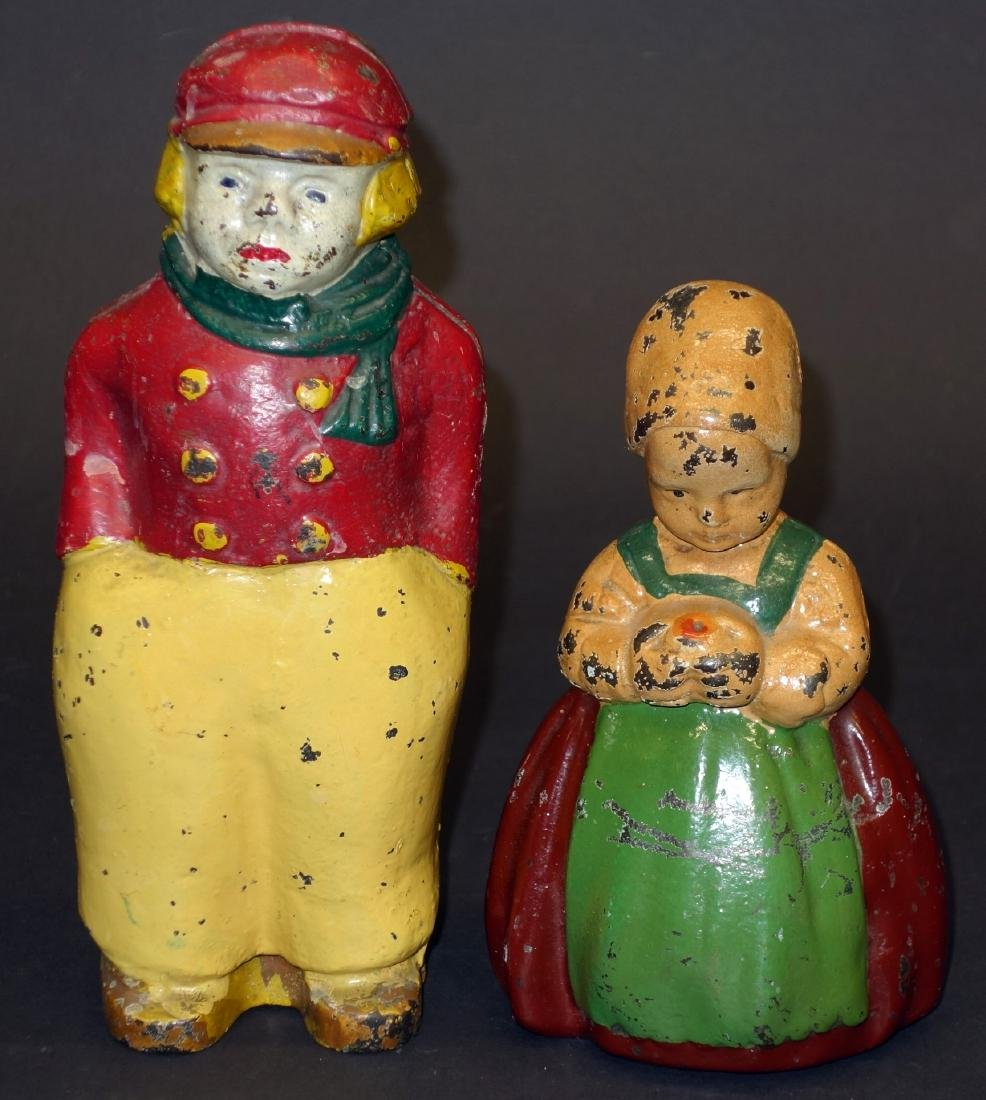 DUTCH GIRL AND BOY DOORSTOPS - (2)