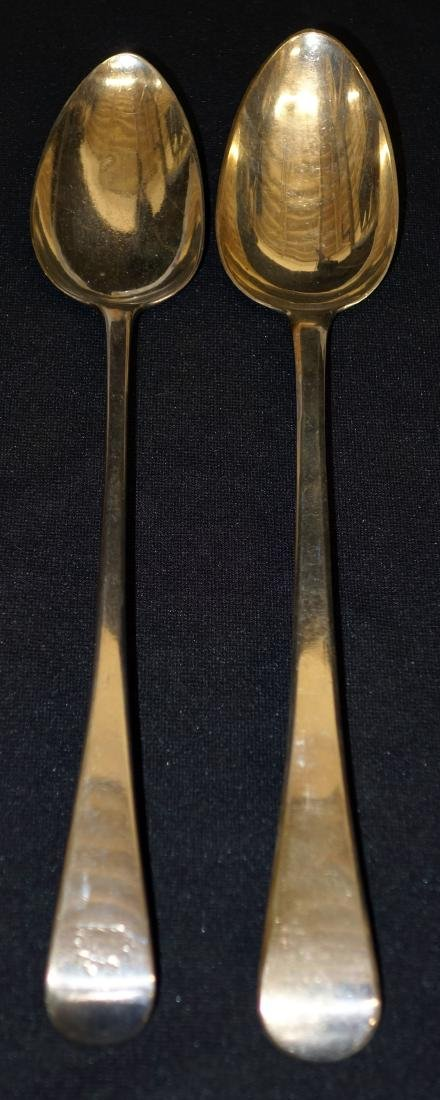 ENGLISH STERLING STUFFING SPOONS (2)