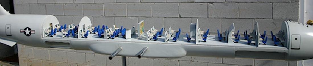 U.S. AIRFORCE TRANSPORT AVIATION CUT-AWAY MODEL - 7