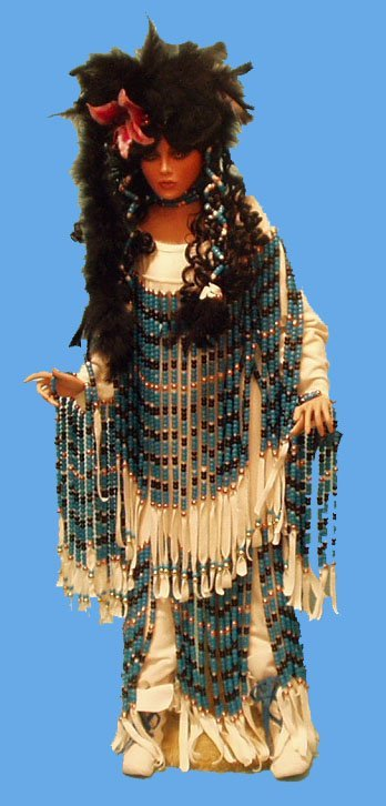 128: INDIAN PRINCESS ARTIST DOLL BY RUSTIE