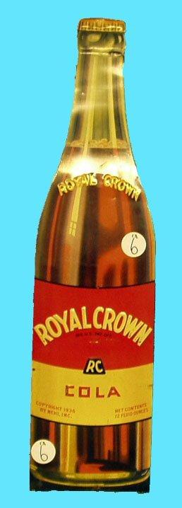 1006: ROYAL CROWN COLA DIE-CUT TIN -