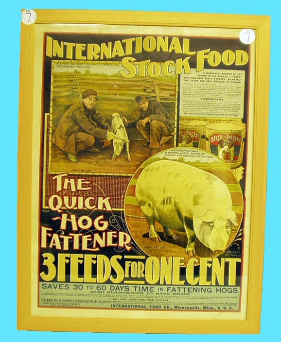 1007: INTERNATIONAL STOCK FOOD ADVERTISING POSTER