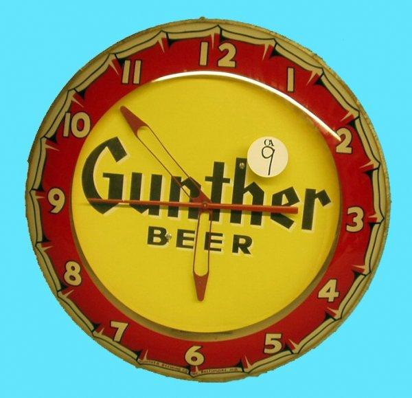 1009: GUNTHER BEER CLOCK -