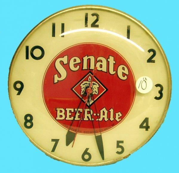 1010: SENATE BEER ADVERTISING CLOCK