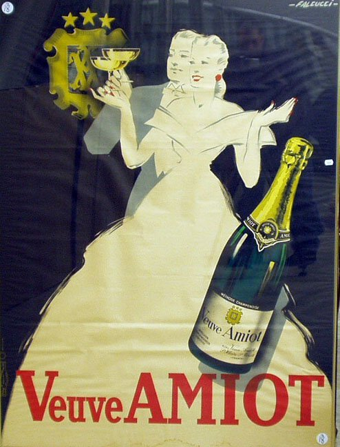 1018: VEUVE AMIOT FRENCH POSTER -