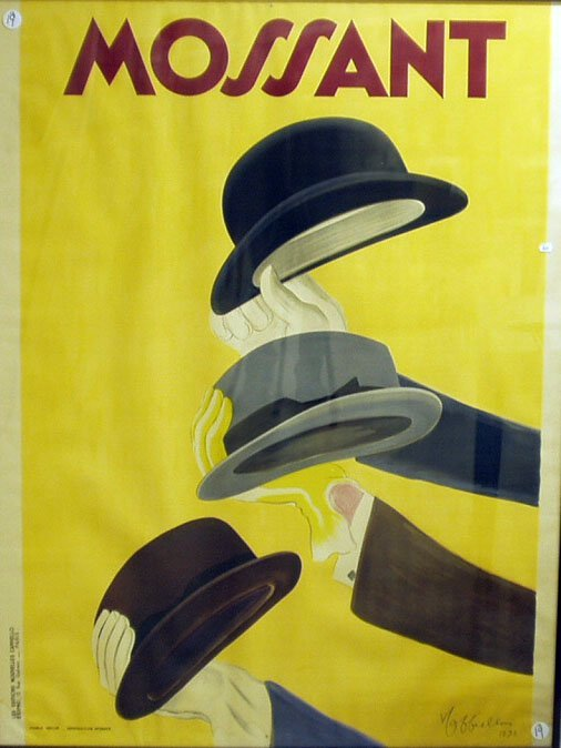 1019: MOSSANT FRENCH POSTER 1938 -