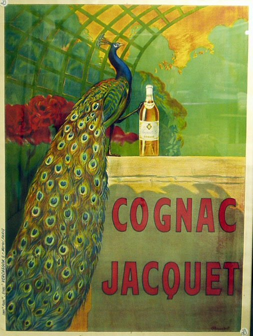 1020: COGNAC JACQUET FRENCH POSTER -