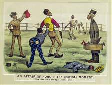 1236 BLACK AMERICANA CURRIER  IVES LITHOGRAPH