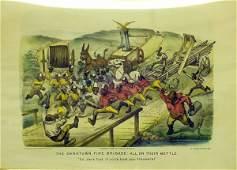 1248 BLACK AMERICANA CURRIER  IVES DARKTOWN FIRE BRIG