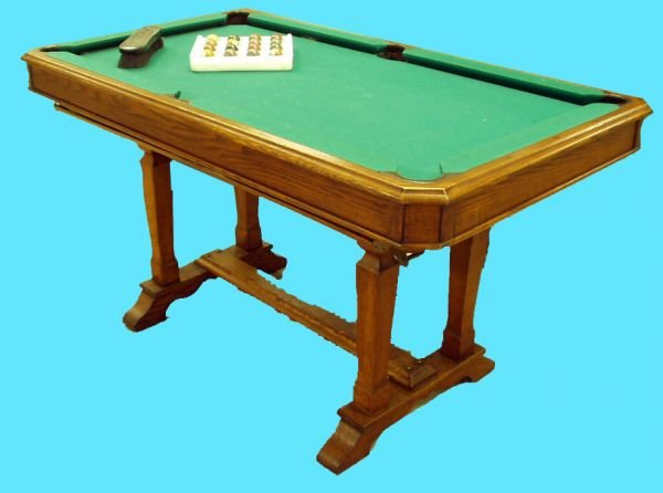 1023: RARE CONVERTIBLE CARD TABLE POOL TABLE