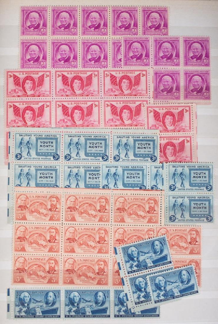 MOSTLY U.S. MINT POSTAGE BLOCKS & PART SHEETS - 2