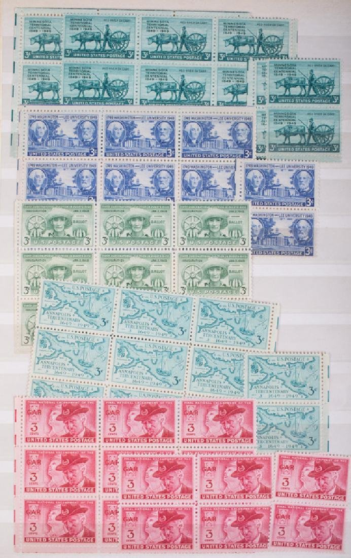 MOSTLY U.S. MINT POSTAGE BLOCKS & PART SHEETS - 3