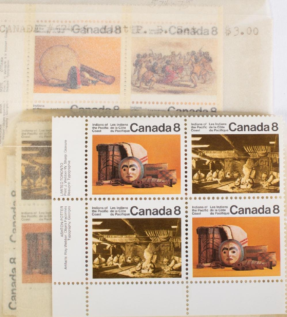CANADIAN MINT BLOCKS, SINGLES