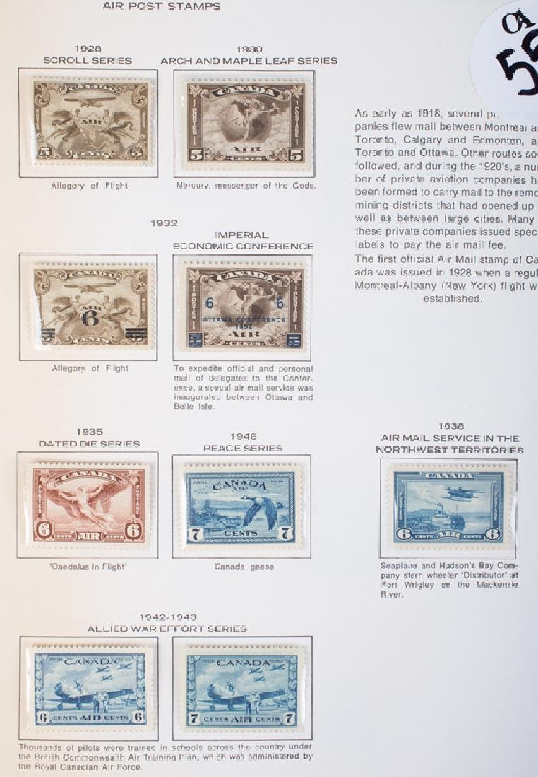CANADIAN AIR POST STAMPS