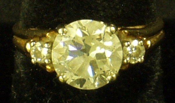 18: 14K GOLD & DIAMOND RING