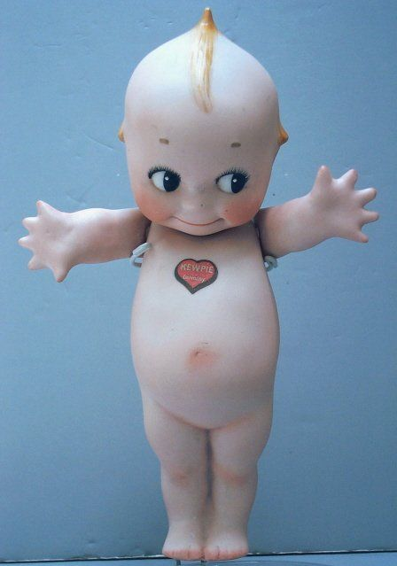 BISQUE KEWPIE - JOINTED ARMS - ROSE O'NEILL MARK