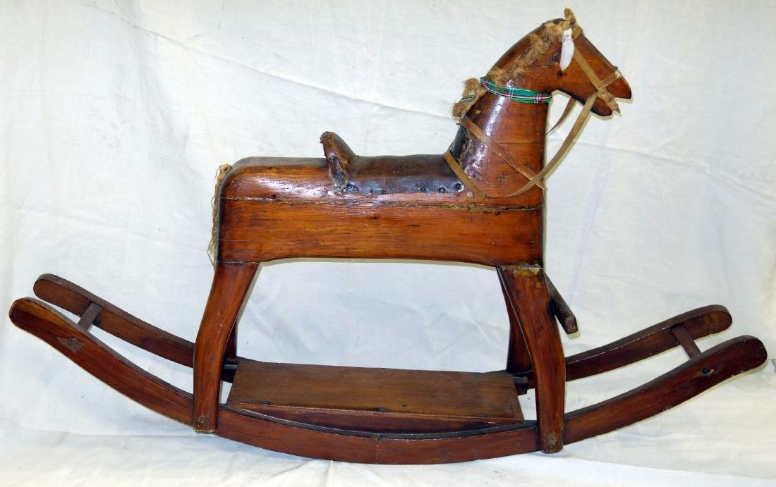 WOOD ROCKING HORSE