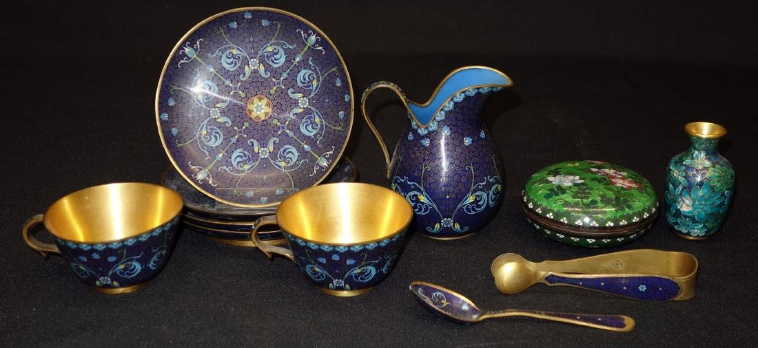 ASSORTED CLOISONNE ITEMS