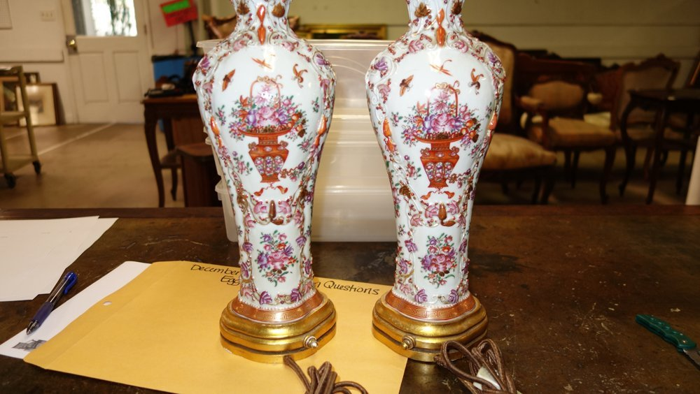 PAIR EXPORT TABLE LAMPS - 6