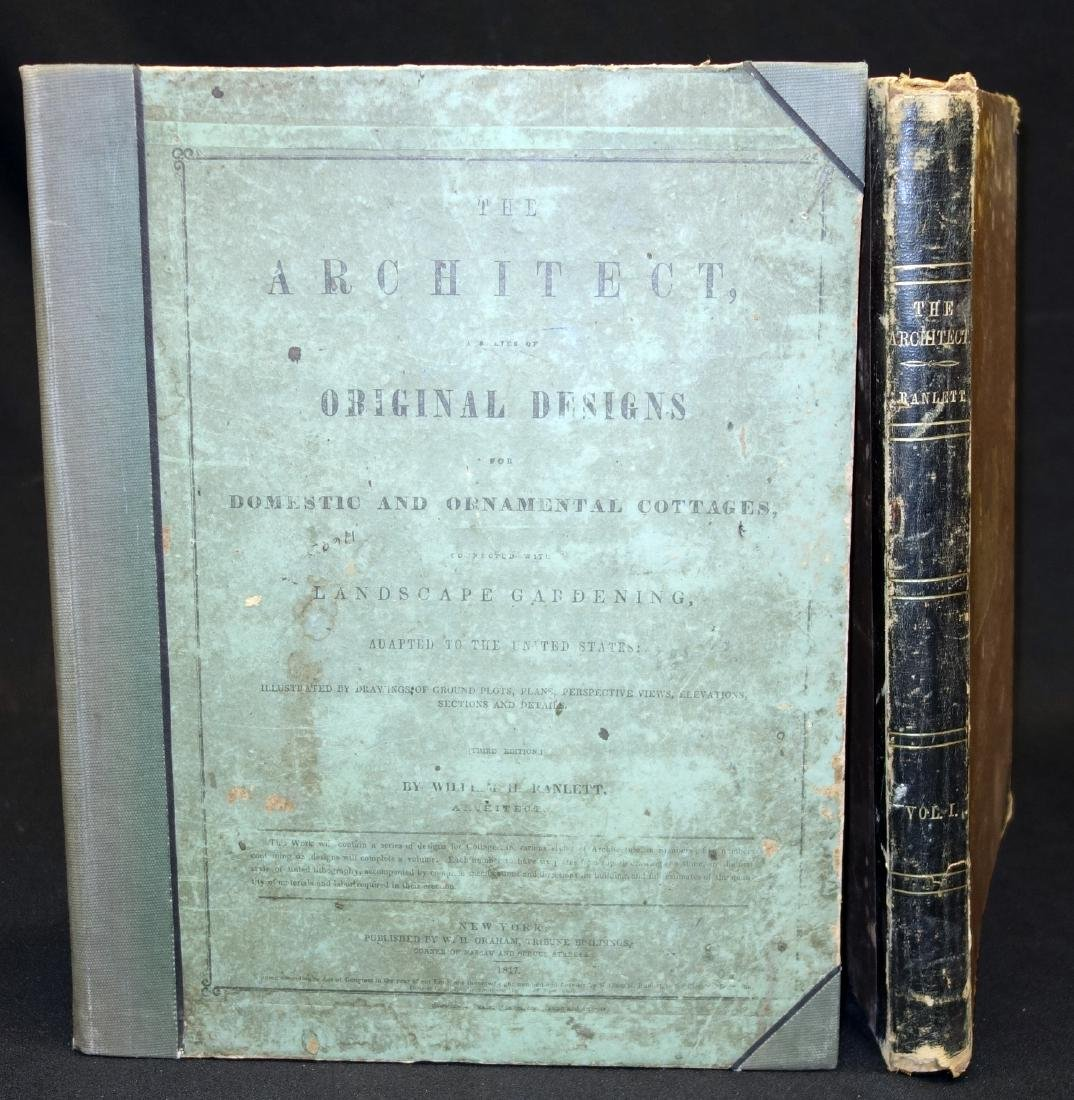 Price Guides & Publications 1817 Book Titled Cottages And Landscape Gardening Plans By William Ranlett Antiques