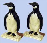 570 PAIR OF COMPOSITION SYROCCO PENGUIN BOOKENDS