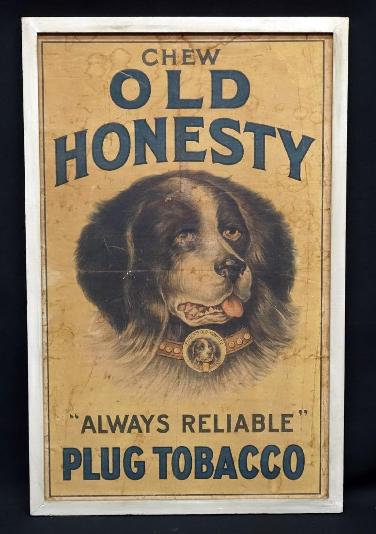 OLD HONESTY TOBACCO ADVERTISING SIGN