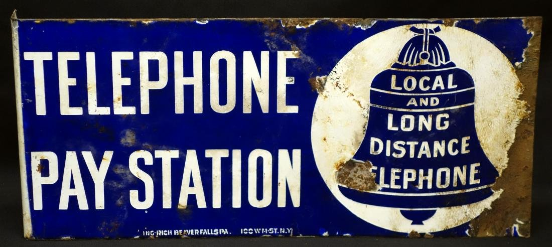 TELEPHONE FLANGE SIGN