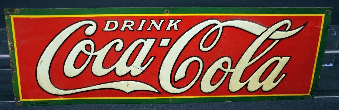 COCA-COLA TIN SIGN 1930's
