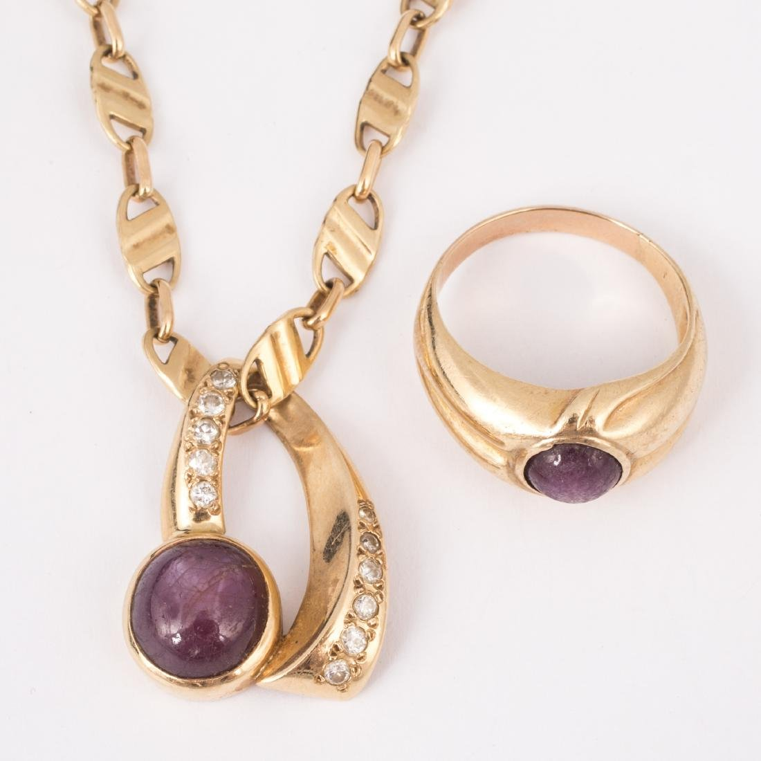STAR SAPPHIRE NECKLACE & RING