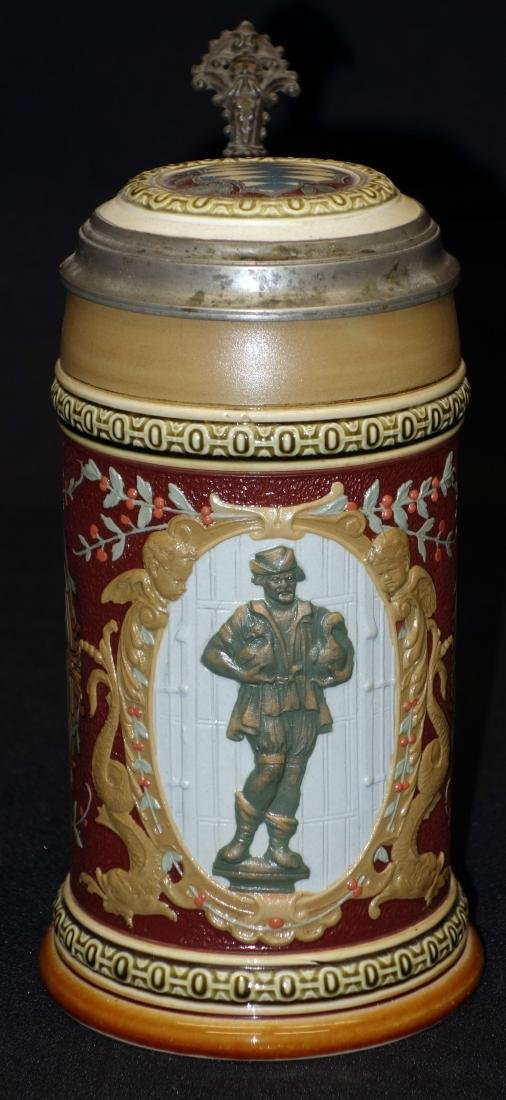 "METTLACH STEIN ""The Gooseman of Nuremberg"" (1/2 L)"