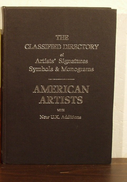 1005: Classified Directory of Artists' Signatures 1987