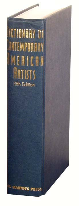 1008: Dictionary of Contemporary American Artists '88 N