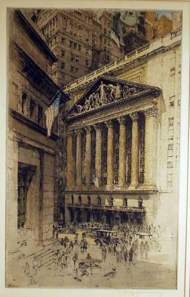1011: LUIGI KASIMIR New York Stock Exchange Etching NR