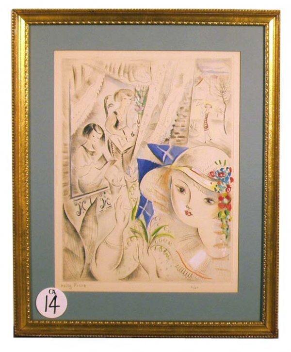 1014: MILY POSSOZ Hand Colored Print NR