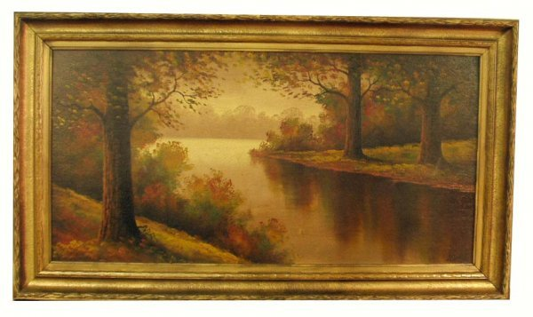 1179: L. GRIFFITH Indiana River Landscape Painting NR