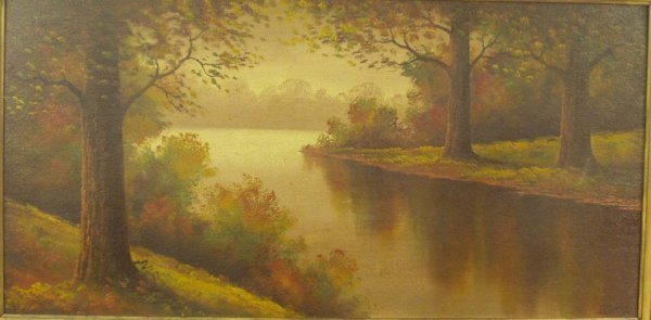 1179: L. GRIFFITH Indiana River Landscape Painting NR - 2