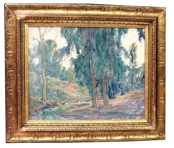 1181: WILLIAM POSEY SILVA Eucalyptus Oil Painting NR