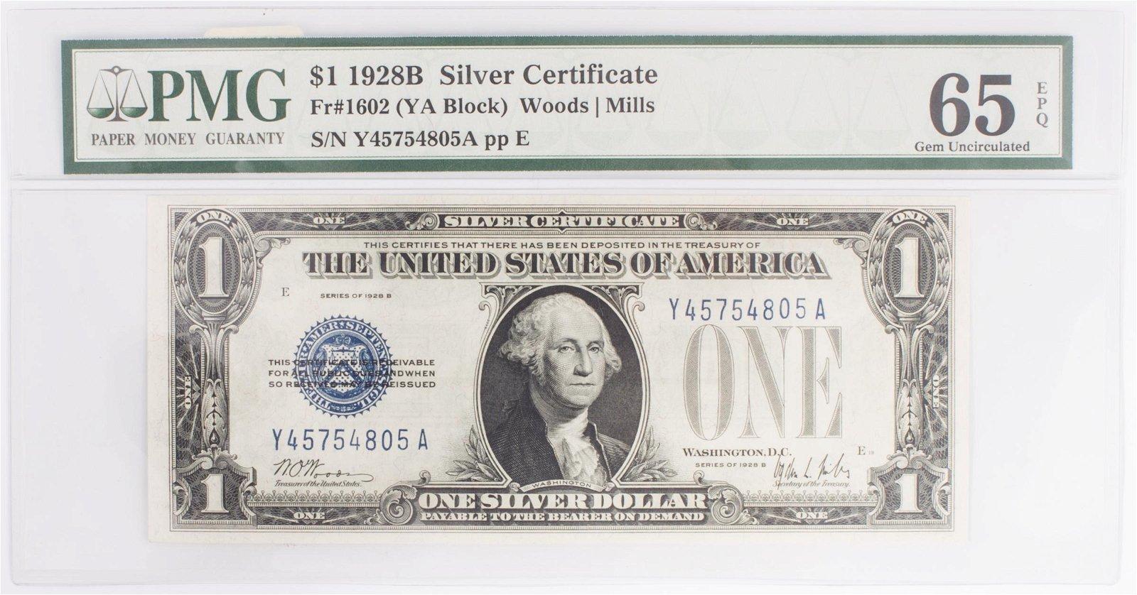 1928 $1 SILVER CERTIFICATE (B)