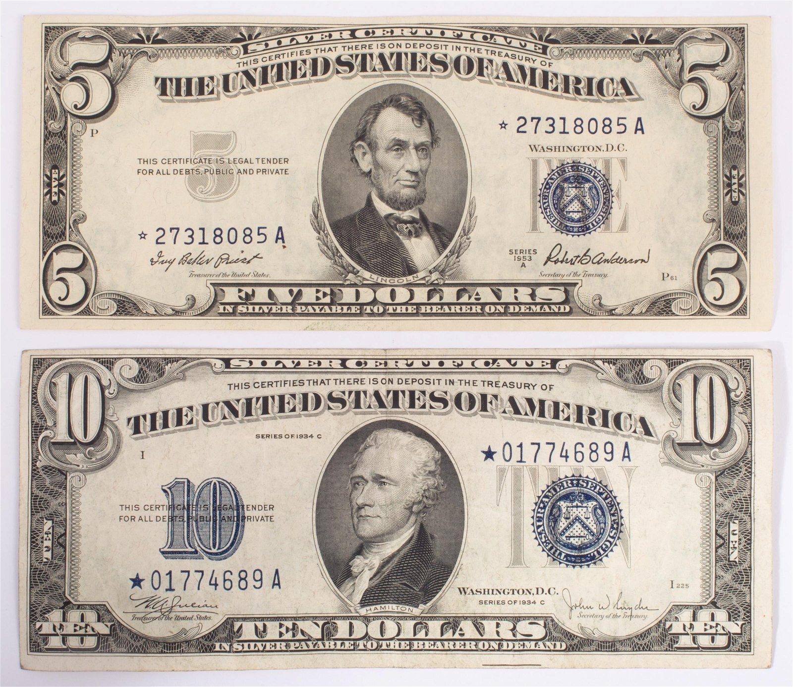 SILVER CERTIFICATES (2)