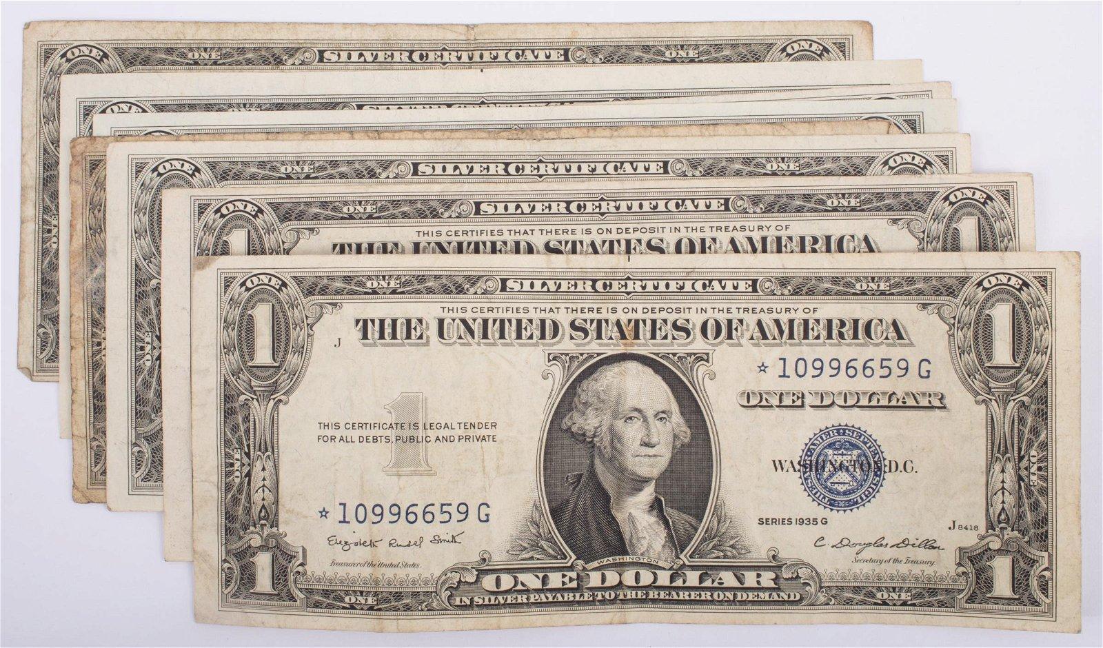 1935 $1 SILVER CERTIFICATES (8)