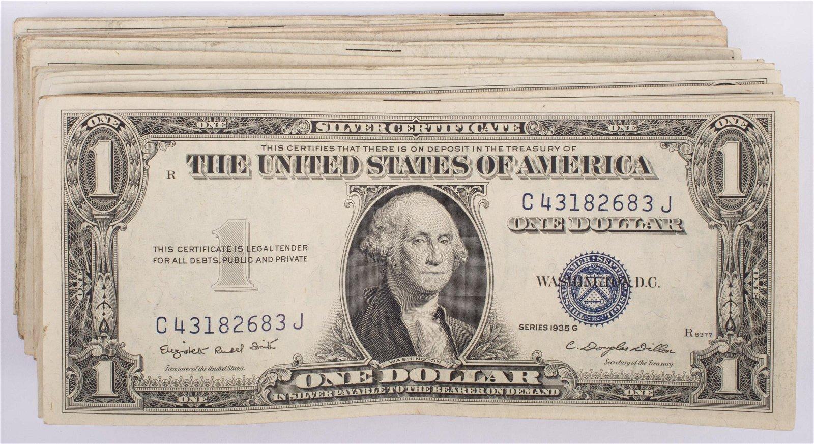 1935 $1 SILVER CERTIFICATES (65)