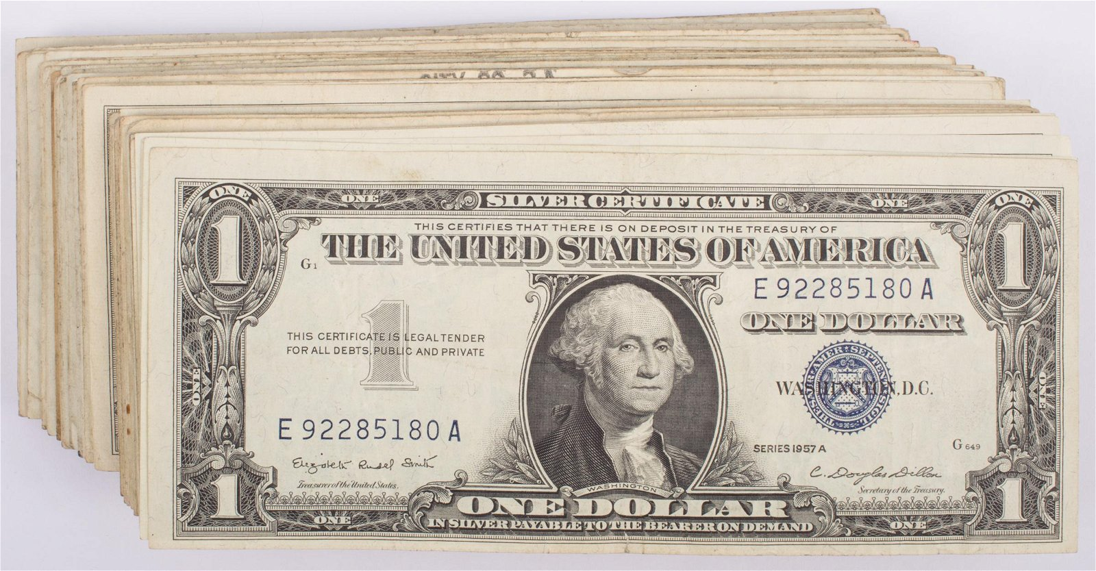 1957 $1 SILVER CERTIFICATES (106)