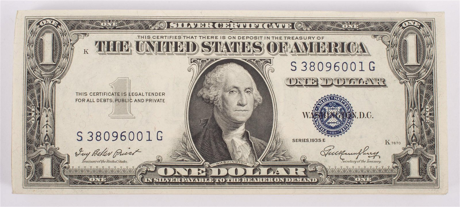 SEQUENTIAL $1 SILVER CERTIFICATES (100)