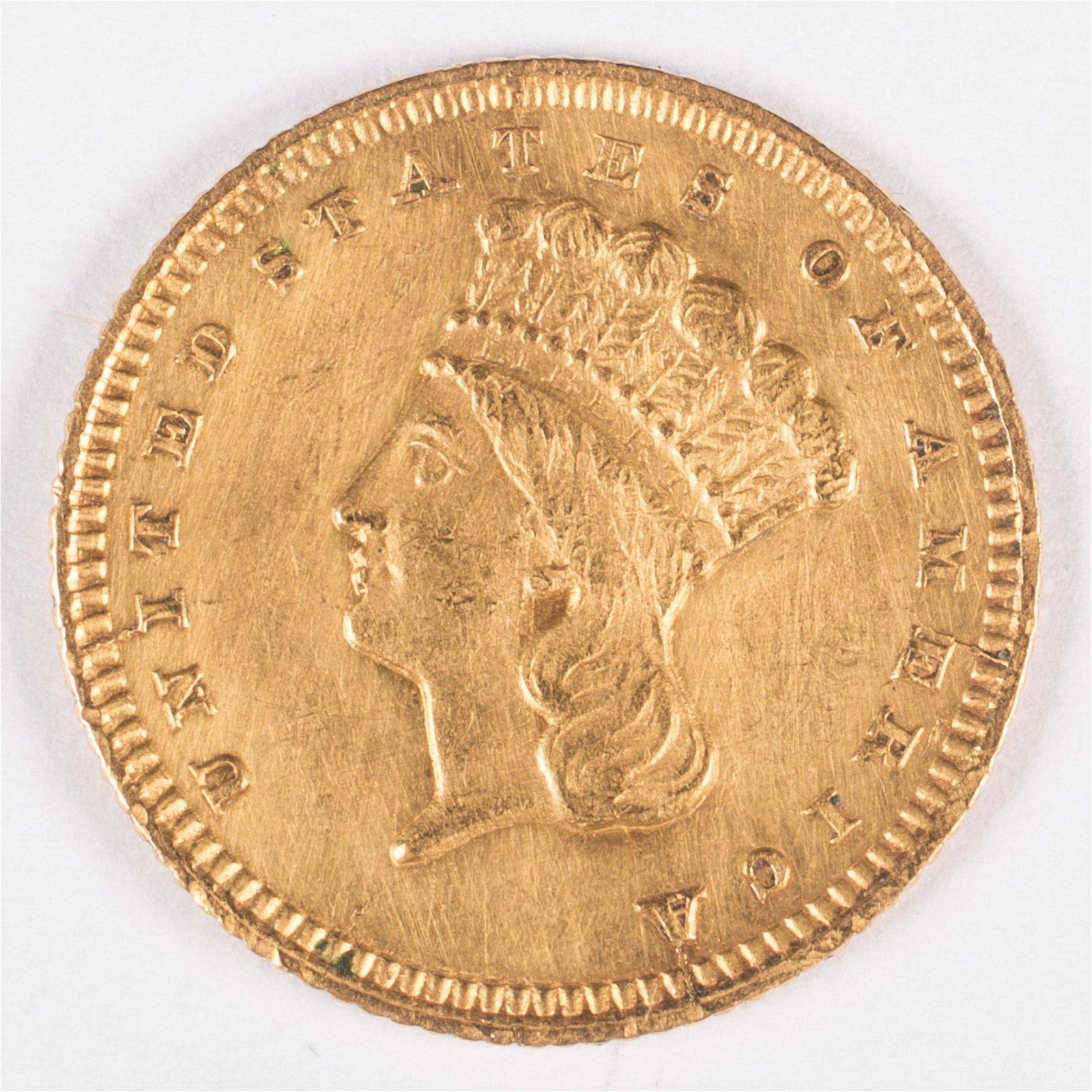 1861 (?) $1 GOLD COIN