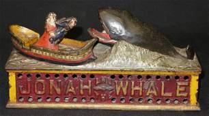 JONAH AND WHALE MECHANICAL BANK