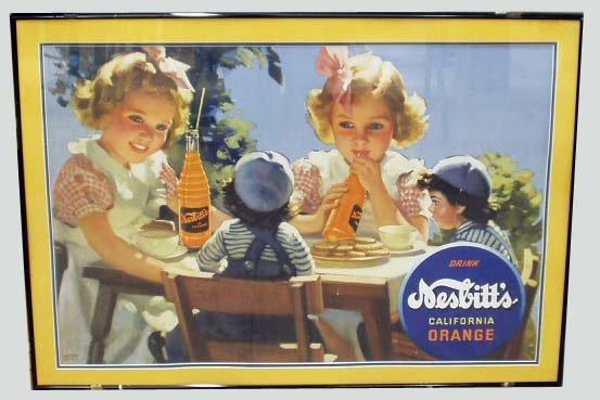 2: NESBITTS ORANGE DRINK CARDBOARD ADVERTISING