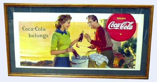 5: COCA-COLA ADVERTISING CARDBOARD SIGN