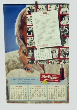 9: DR. PEPPER 1948 CALENDAR - MISS NORTH